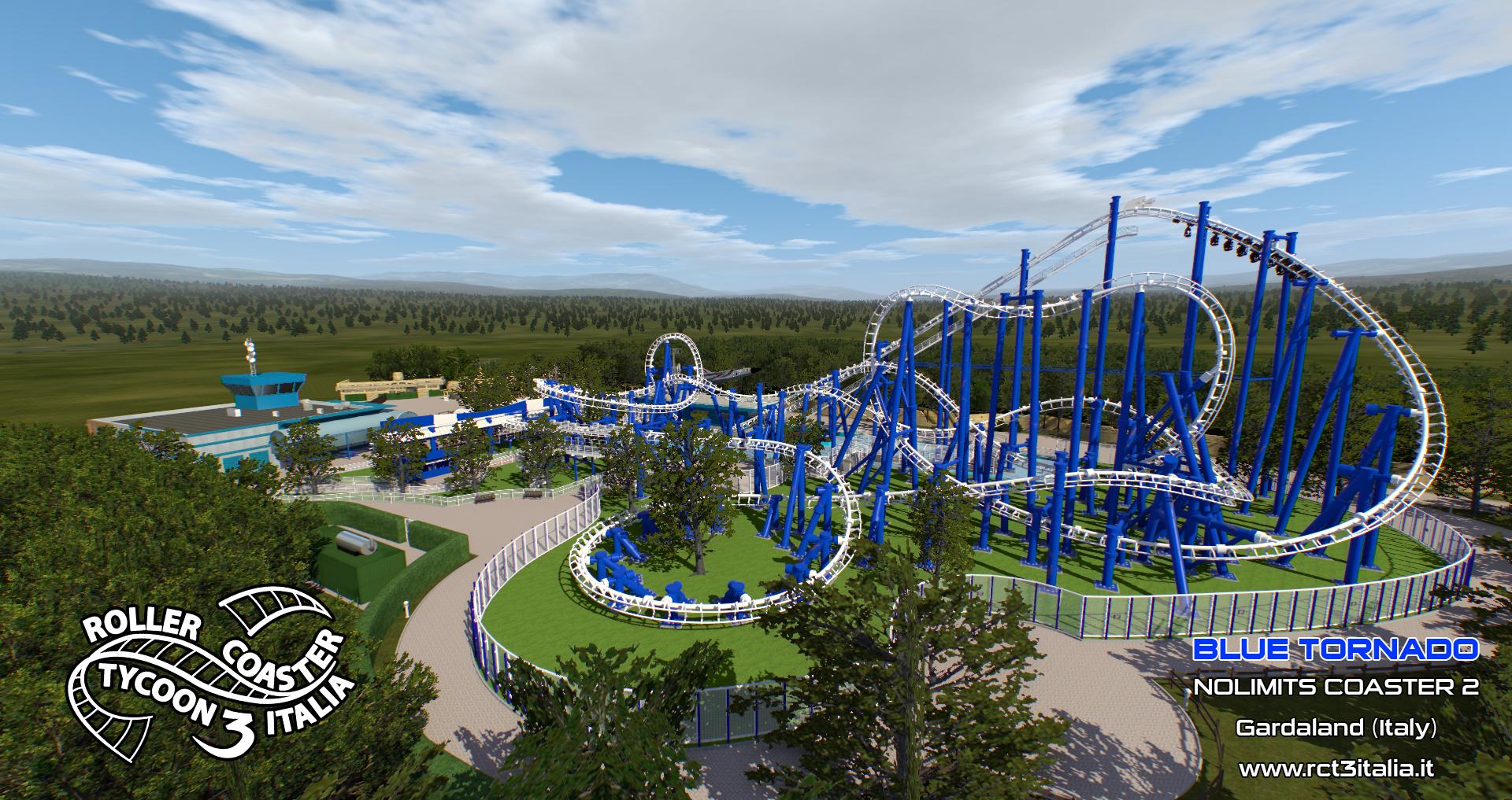 Gardaland Blue Tornado Simulatore Simulator Nolimits2 RCT3 Italia